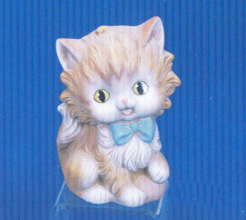Ceramic Bisque U-Paint Cute Kitty Cat with Bow and Ball of Yarn ~ Kitten Ready to Paint Unpainted DIY