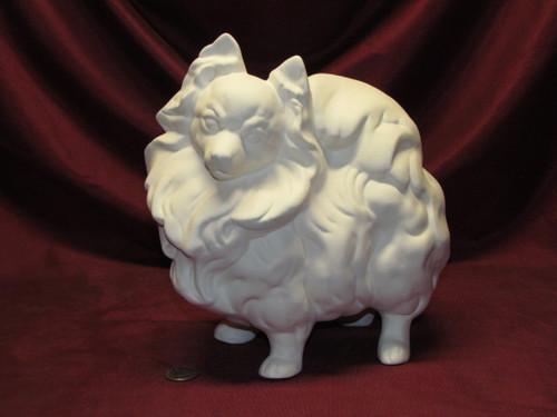 Ceramic Bisque U-Paint Pomeranian Dog ~ Ready to Paint Unpainted DIY