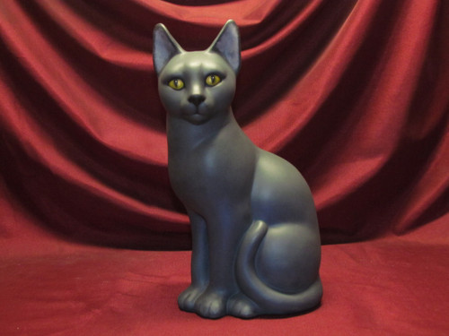 George The Cat ~ Hand Painted Ceramic Bisque ~ Ready to Display