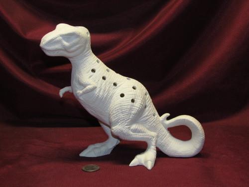 Ceramic Bisque Tyrannosaurus Rex Lamp ~ pyop unpainted ready to paint diy