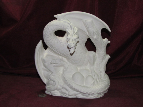 Spring Dragon - Ready To Paint Ceramic Bisque