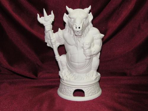 Ceramic Bisque Demon Smoker & Base pyop unpainted ready to paint diy