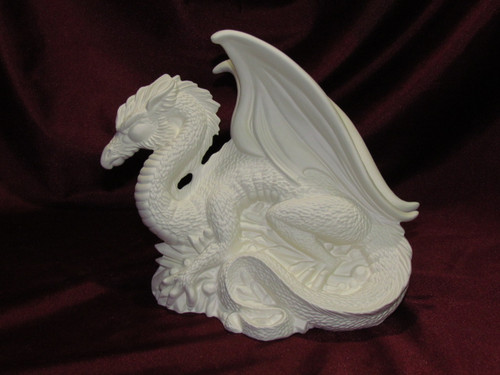 Crystal Dragon - Ready To Paint Ceramic Bisque