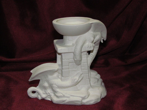 Dragon Sphere Holder - Ready To Paint Ceramic Bisque