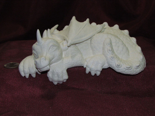 Large Shelf Sitter Dragon - Ready To Paint Ceramic Bisque
