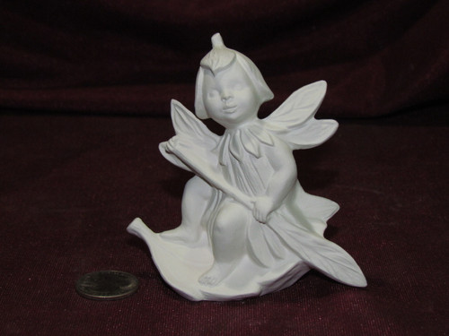 Ceramic Bisque Gare Dewdrop Fairy Leaf Boat unpainted ready to paint