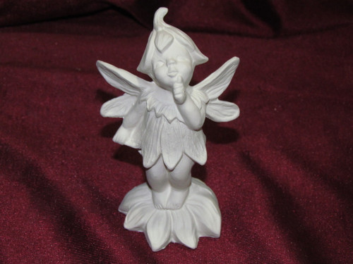 Ceramic Bisque Gare Dewdrop Fairy Standing on a Flower pyop unpainted ready to paint diy