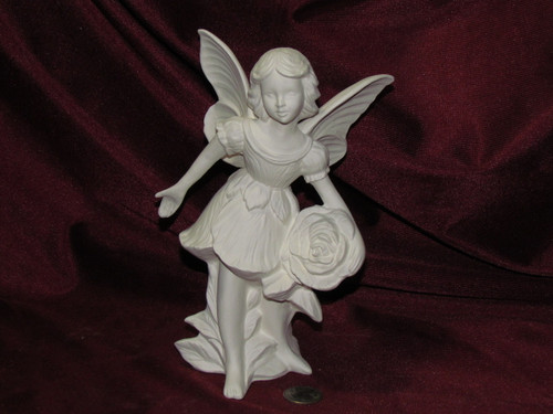 Ceramic Bisque Gare Rose Fairy unpainted ready to paint