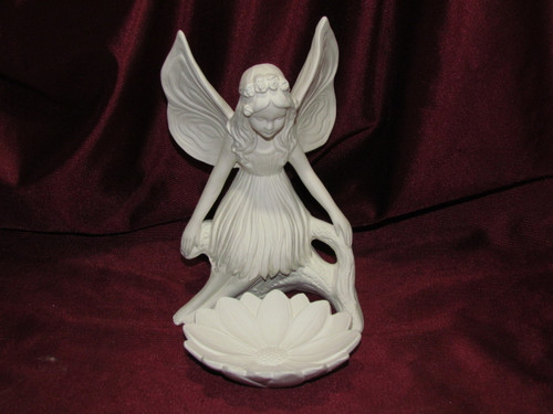 Ceramic Bisque Gare Lily Fairy pyop unpainted ready to paint diy