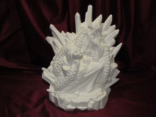 Ceramic Bisque Winter Wizard  pyop unpainted ready to paint diy