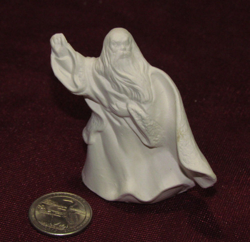 Ceramic Bisque Tiny Wizard  pyop unpainted ready to paint diy