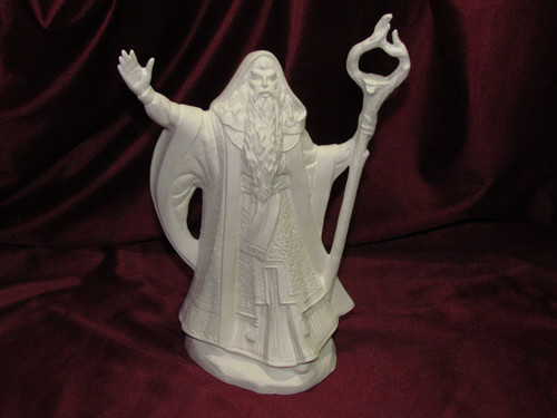 Ceramic Bisque Fall Wizard  pyop unpainted ready to paint diy
