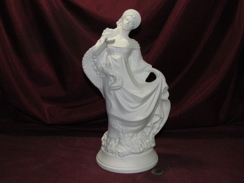 Ceramic Bisque Fantasy Maiden With Flowers In Her Hair  pyop unpainted ready to paint diy