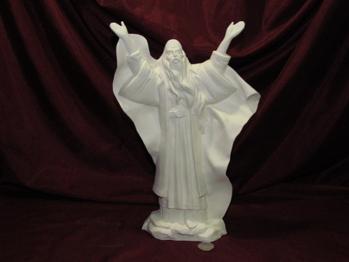 Ceramic Bisque Omnipotent  Wizard  pyop unpainted ready to paint diy