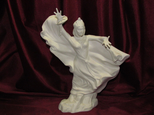 Ceramic Bisque Sorceress  pyop unpainted ready to paint diy