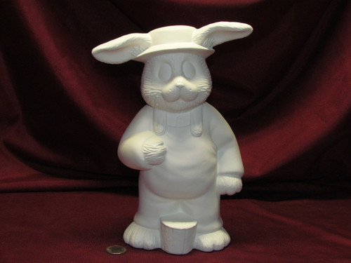Ceramic Bisque Dona's Papa Bunny Rabbit pyop unpainted ready to paint diy