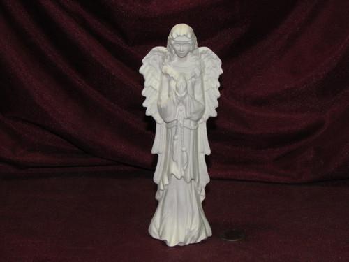 Ceramic Bisque Wispy Angel of Prayer pyop unpainted ready to paint diy