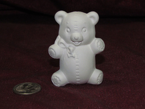 Ceramic Bisque Tiny Teddy Bear pyop unpainted ready to paint diy