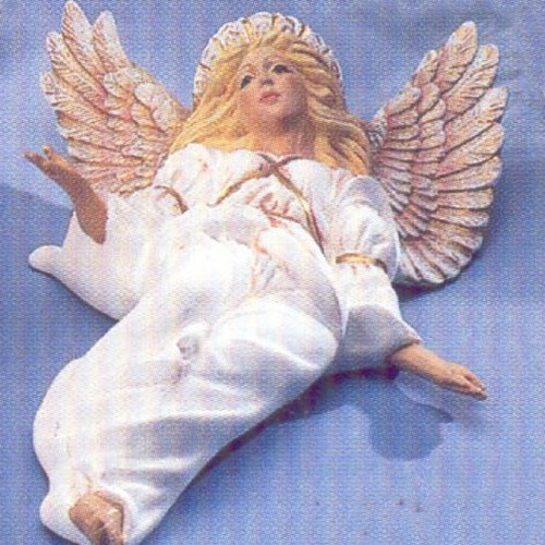 Ceramic Bisque Wall or Wreath Angel ~ DH 1477 pyop unpainted ready to paint diy