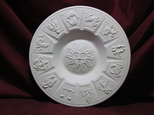 Ceramic Bisque Astrology Zodiac Ashtray pyop unpainted ready to paint diy