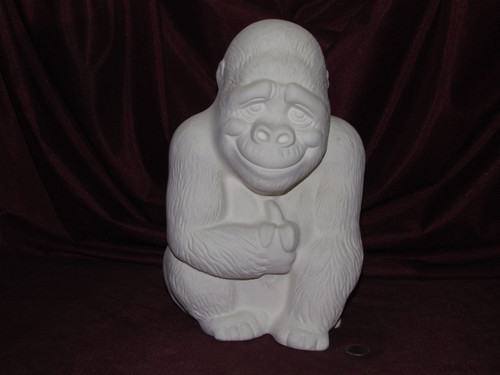 Ceramic Bisque Andrew The Ape pyop unpainted ready to paint diy
