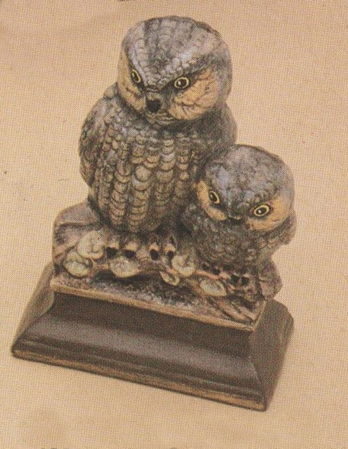 Ceramic Bisque Mommy Owl & Chick pyop unpainted ready to paint diy