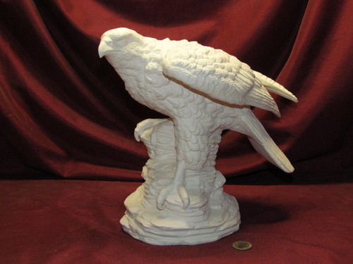 Ceramic Bisque Large Grey Falcon pyop unpainted ready to paint diy