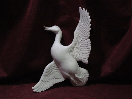 Ceramic Bisque Duck In Flight pyop unpainted ready to paint diy