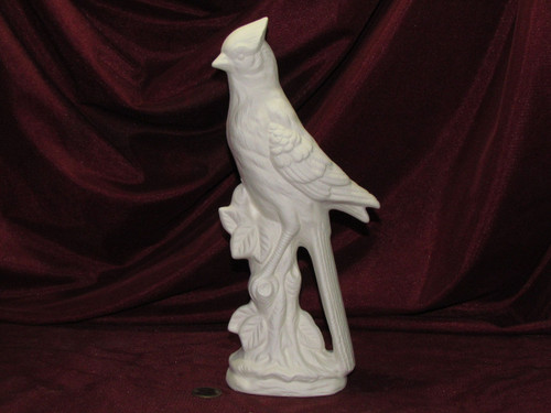 Ceramic Bisque Bluejay Bird pyop unpainted ready to paint diy
