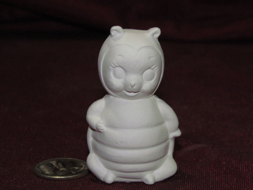 Ceramic Bisque Small Lady Bug pyop unpainted ready to paint diy