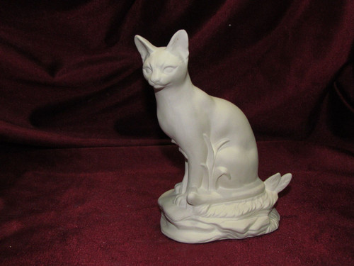 Ceramic Bisque Oriental Short Hair Siamese Cat pyop unpainted ready to paint diy