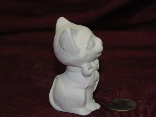 Ceramic Bisque Small Cat pyop unpainted ready to paint diy