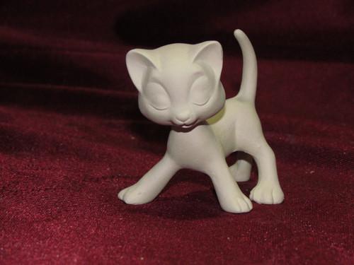 Ceramic Bisque Bobble Head Cat pyop unpainted ready to paint diy
