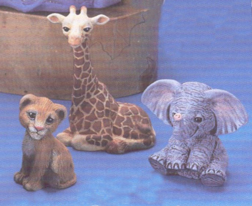 Ceramic Bisque African Animal Crackers Figurines pyop unpainted ready to paint diy