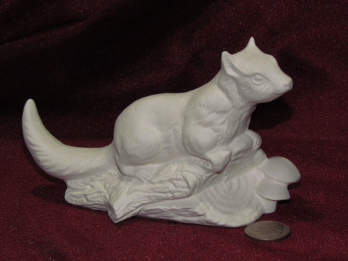 Ceramic Bisque Chipmunk Fairy Diddle pyop unpainted ready to paint diy