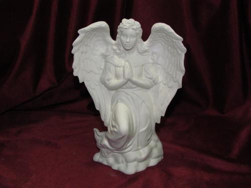 Ceramic Bisque Kneeling Angel Praying pyop unpainted ready to paint diy
