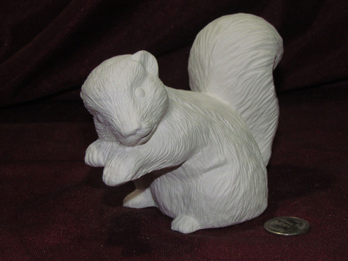 Ceramic Bisque Skunk With Paws Up pyop unpainted ready to paint diy