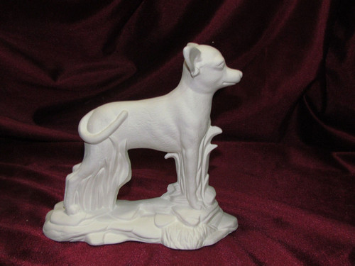 Ceramic Bisque Chihuahua On Rock Base pyop unpainted ready to paint diy