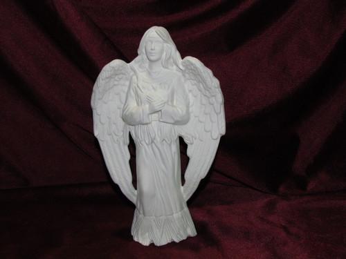 Ceramic Bisque Native American Angel