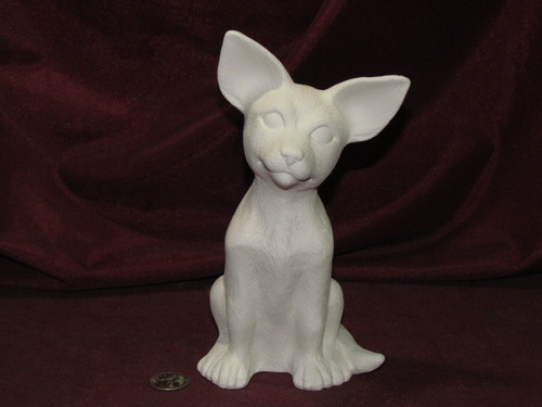 Ceramic Bisque Sitting Chihuahua pyop unpainted ready to paint diy