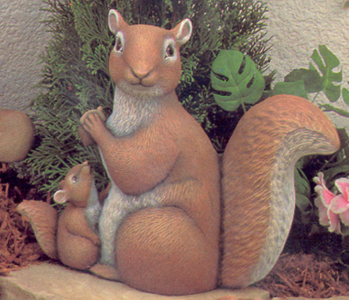 Ceramic Bisque Mommy Squirrel With Baby Up pyop unpainted ready to paint diy