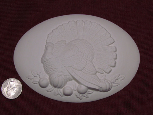 Ceramic Bisque Set of 2 Dona's Inserts ~ Turkey pyop unpainted ready to paint diy