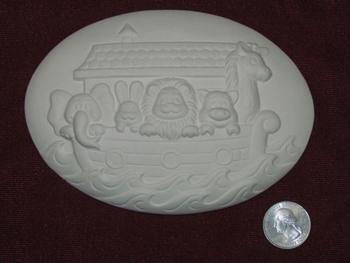 Ceramic Bisque Set of 2 Dona's Inserts ~ Noah's Ark pyop unpainted ready to paint diy