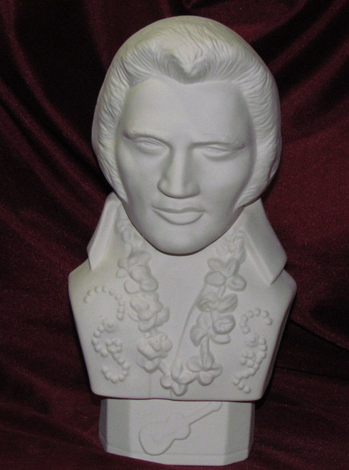 Ceramic Bisque Bust Elvis Presley pyop unpainted ready to paint diy