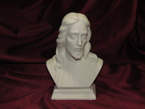 Ceramic Bisque Bust Jesus Christ pyop unpainted ready to paint diy