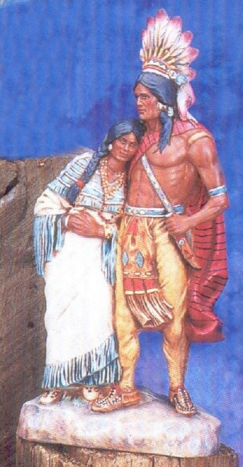 Ceramic Bisque Native American Hiawatha's Wedding