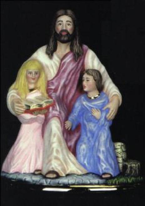 Ceramic Bisque Jesus Christ With Children pyop unpainted ready to paint diy