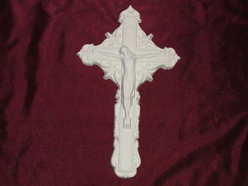 Ceramic Bisque Jesus Christ Crucifix pyop unpainted ready to paint diy