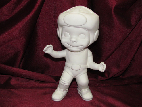 Ceramic Bisque Happy Smiley Figurine Wrestler pyop unpainted ready to paint diy