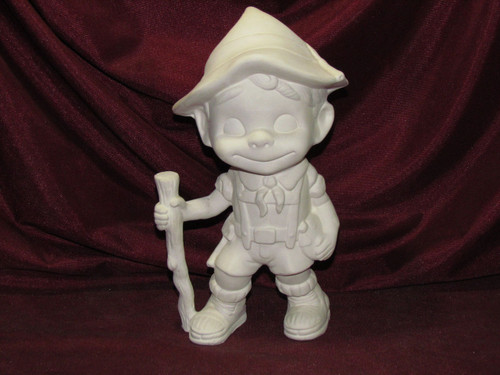 Ceramic Bisque Happy Smiley Figurine Hiker pyop unpainted ready to paint diy